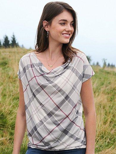 Barbour - Shirt met verbrede schouders en watervalhals