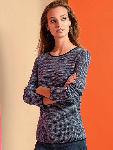 Fadenmeister Berlin - Strikbluse med rund hals 100% ren ny uld