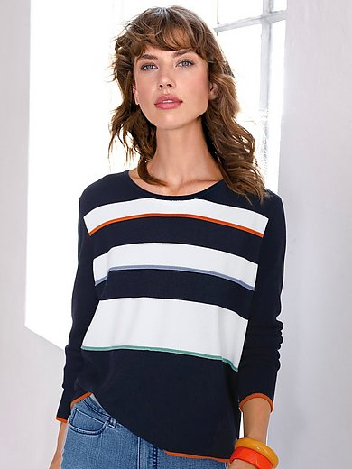 Looxent - Striped round neck jumper with long sleeves