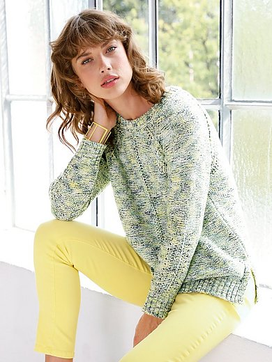 Looxent - Round neck jumper with long sleeves