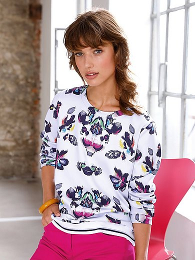 Looxent - Sweatshirt with long sleeves and floral motifs