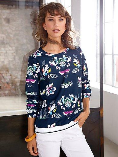 Looxent - Sweatshirt met lange mouwen en gestreepte boorden