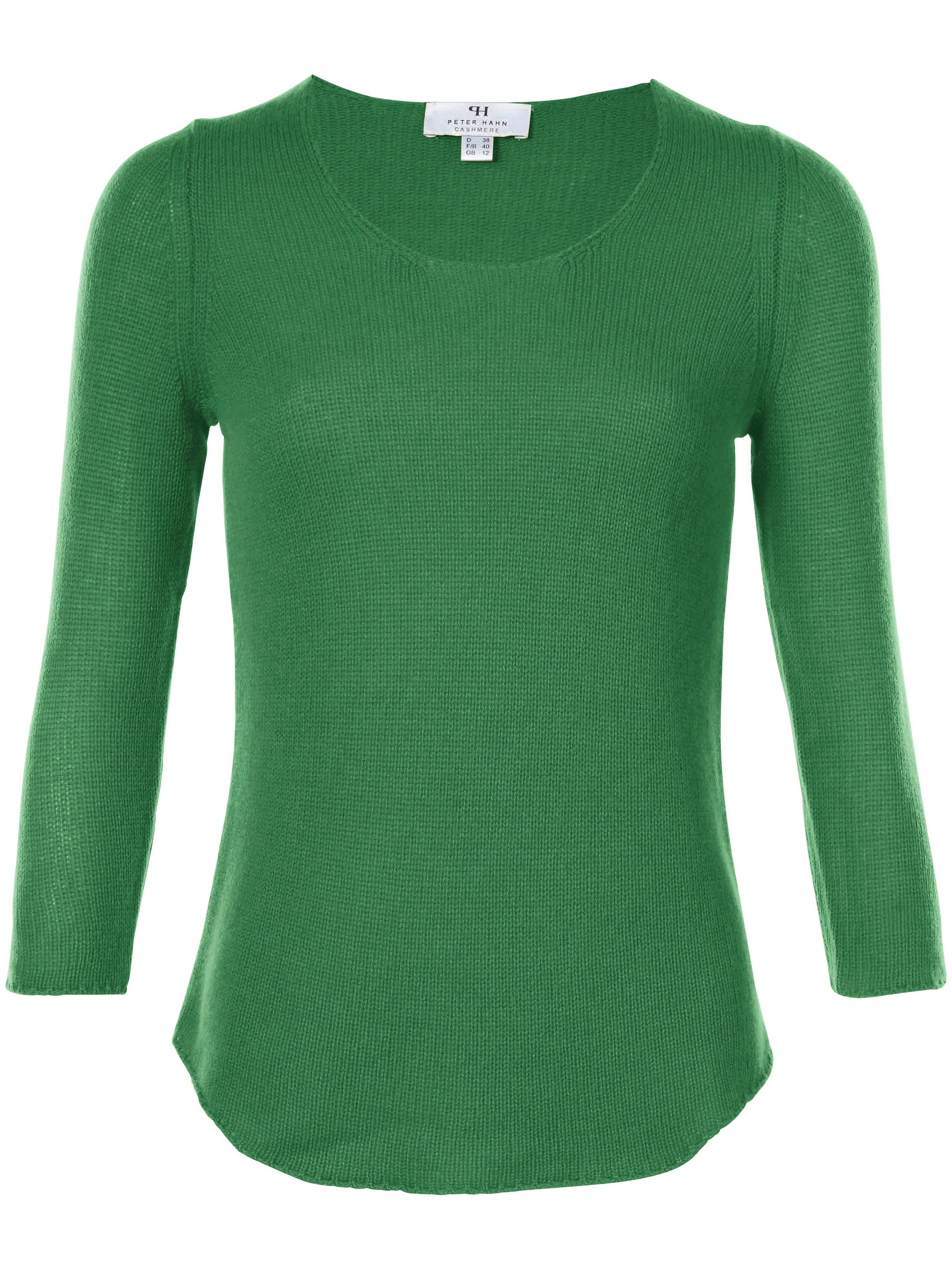 Jumper in 100% premium cashmere Peter Hahn Cashmere green