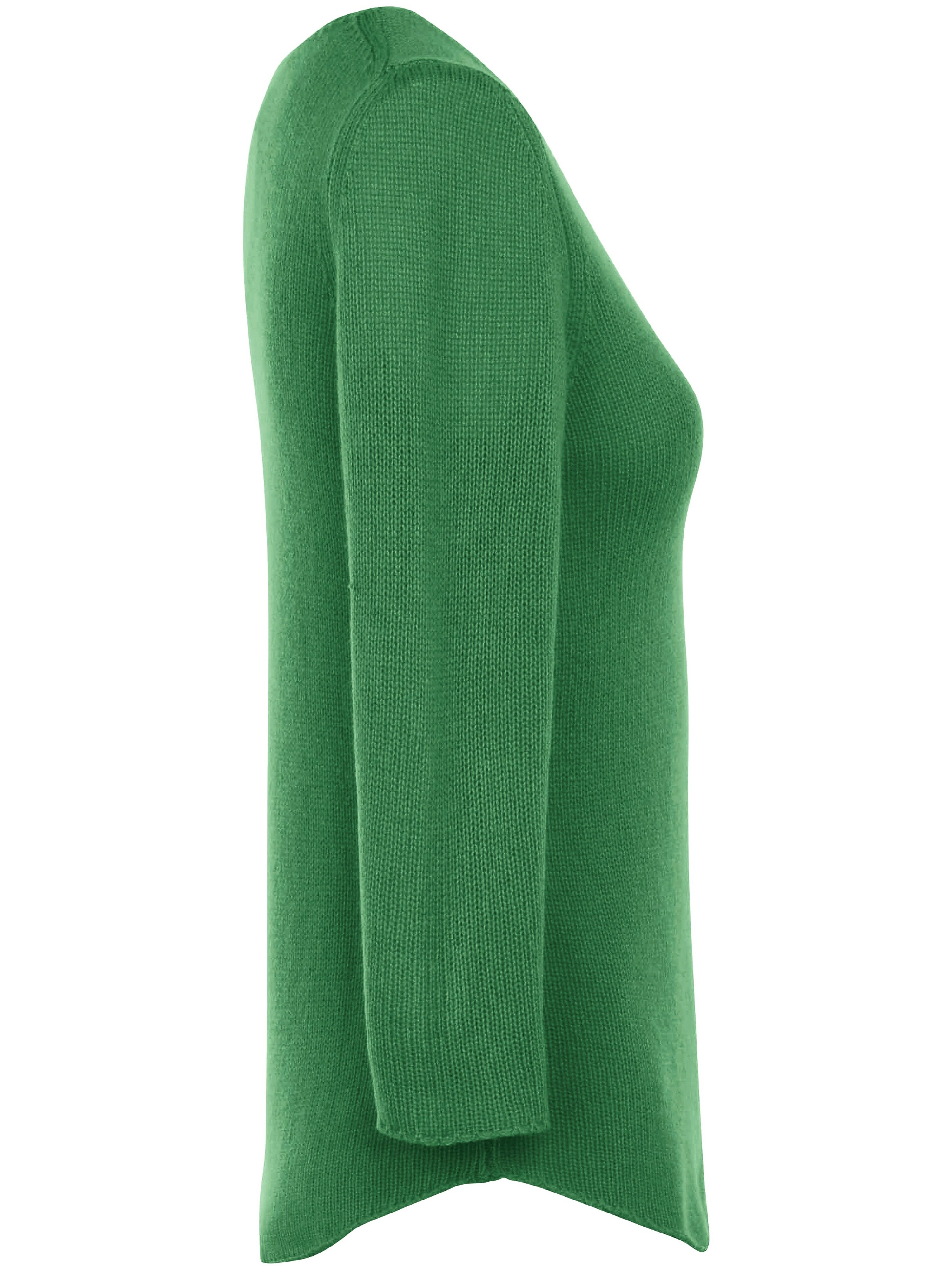 Strikbluse 100 kashmir i Premiumvalitet Fra Peter Hahn Cashmere grøn