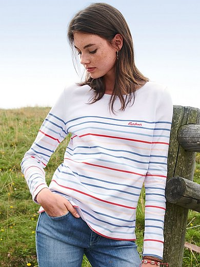 Barbour - Striped round neck top with long sleeves