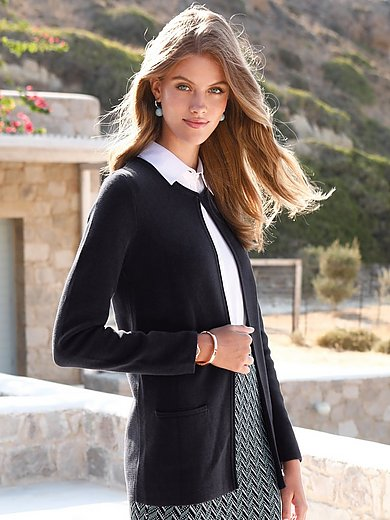 mayfair by Peter Hahn - Strickjacke mit Rundhals-Ausschnitt