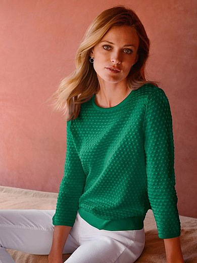 Peter Hahn - Le pull 100% coton Supima® manches 3/4