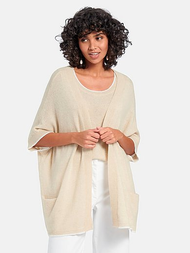 Peter Hahn Cashmere Nature - Open-front style cardigan in 100% cashmere