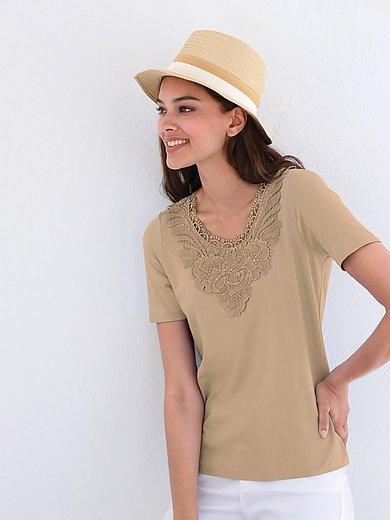 mayfair by Peter Hahn - Le T-shirt avec empiècement dentelle florale