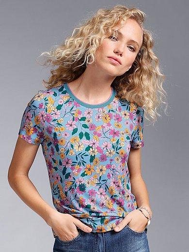 MYBC - Shirt met met ronde hals en gebloemde print