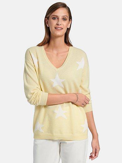 FLUFFY EARS - V-Pullover aus 100% Premium-Kaschmir