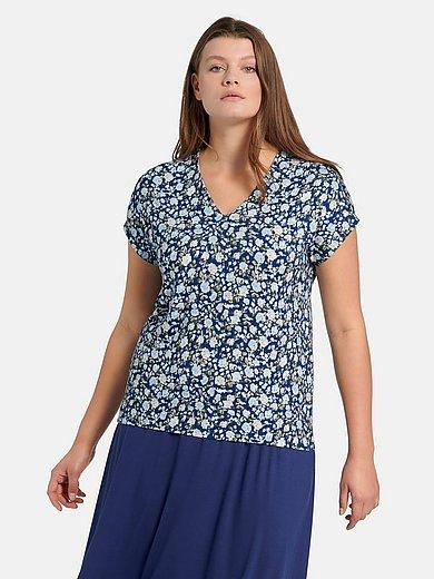 Anna Aura - Shirt met V-hals en millefleursprint
