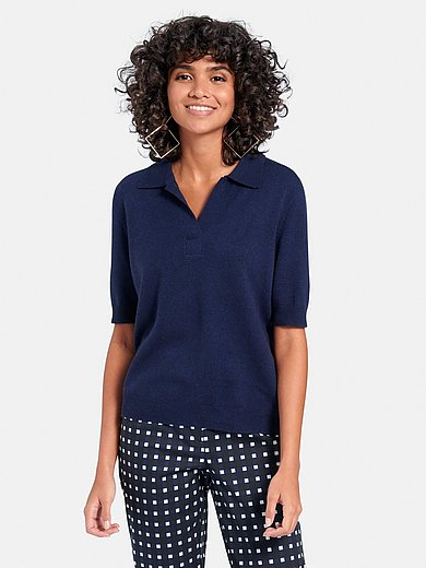 include - Polo collar jumper in wool and cashmere