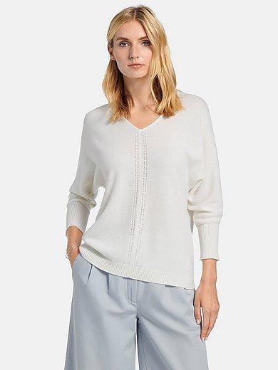 include - V-neck jumper in 100% premium cashmere