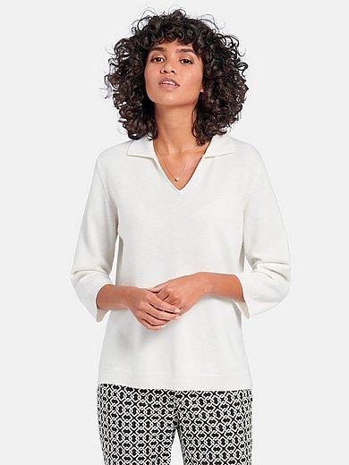 include - Polo collar jumper in 100% premium cashmere