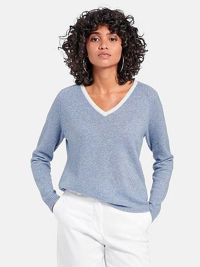 include - V-ringad tröja i 100% kashmir
