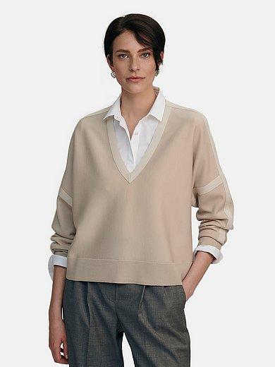 Windsor - V-neck jumper in 100% new milled wool