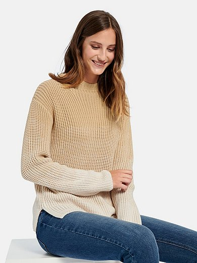 Peter Hahn - Long-sleeved jumper in 100% cotton