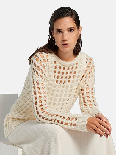 include - Round neck jumper in wool blend