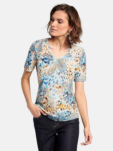Laura Biagiotti Roma - Shirt van 100% linnen met diepe V-hals