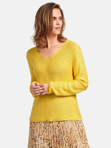Basler - Long-sleeved jumper with V-shaped neckline