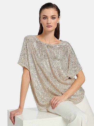 Riani - Pailletten-Shirt mit Kimono-Halbarm