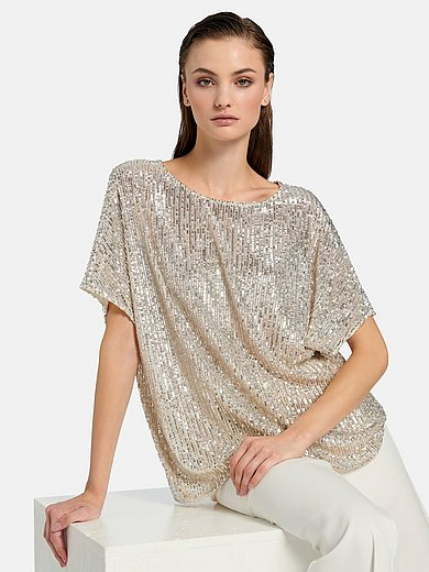 Riani - Sequin top with short kimono sleeves