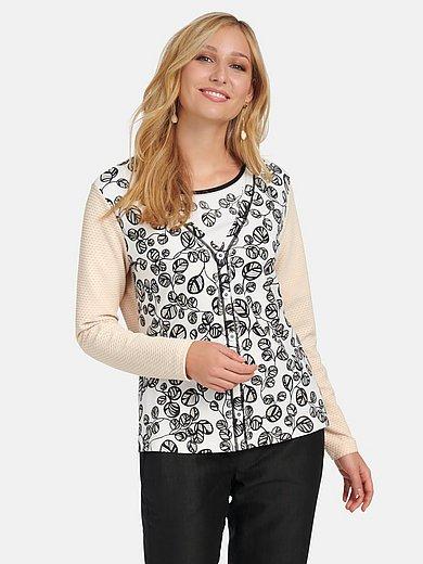 Basler - Shirtjasje met lange mouwen en V-hals