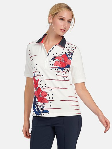 Basler - Polo shirt with floral print