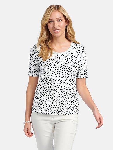 Basler - Round neck shirt with polka dot pattern