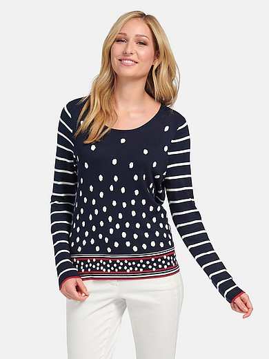 Basler - Jumper with stripes and polka dots