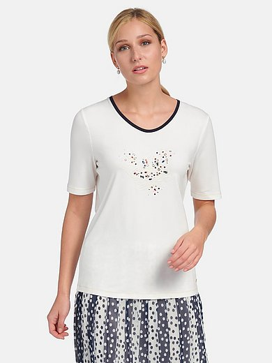 Basler - Short-sleeved shirt with sequins and studs