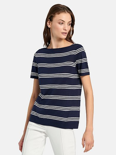 Fadenmeister Berlin - Jumper style top with short sleeves and boat neck
