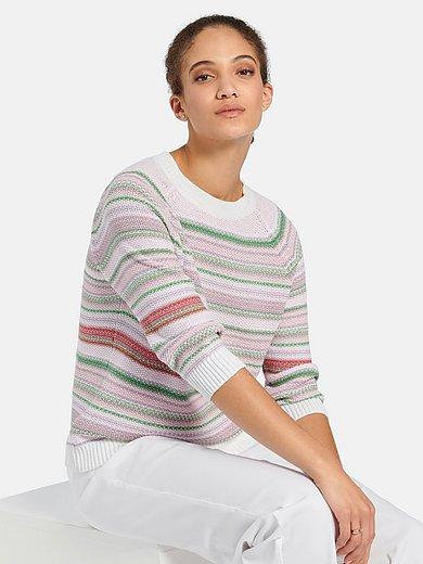 Peter Hahn - Round neck jumper in 100% cotton