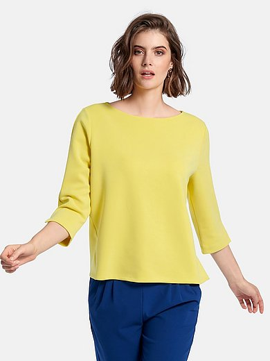 Peter Hahn - Sweatshirt with 3/4-length sleeves and boat neck