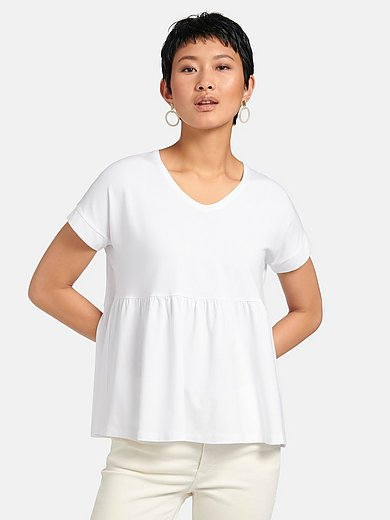 Peter Hahn - V-neck top with short sleeves