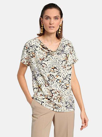 Laura Biagiotti Roma - Shirt met aangeknipte mouwen en cascadehals