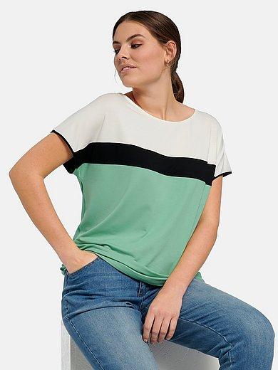 Emilia Lay - Shirt met ronde hals en colourblocking