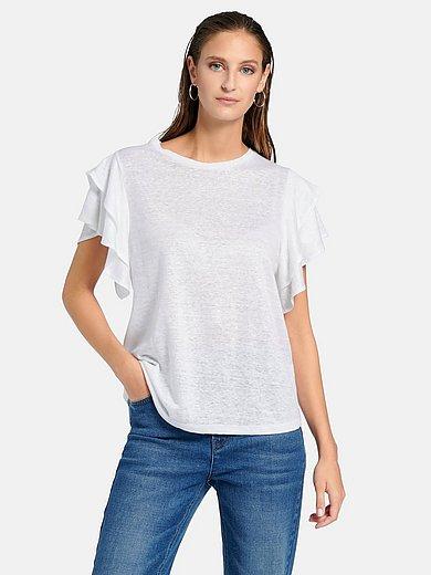 portray berlin - Shirt van 100% linnen met ronde hals