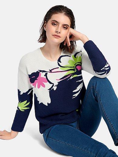 Looxent - Rundhals-Pullover mit überschnittener Schulter