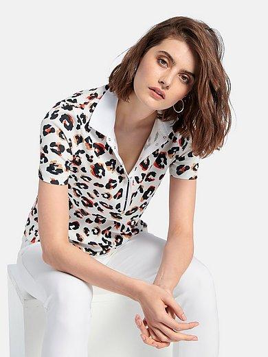 Looxent - Poloshirt met korte mouwen en luipaardprint