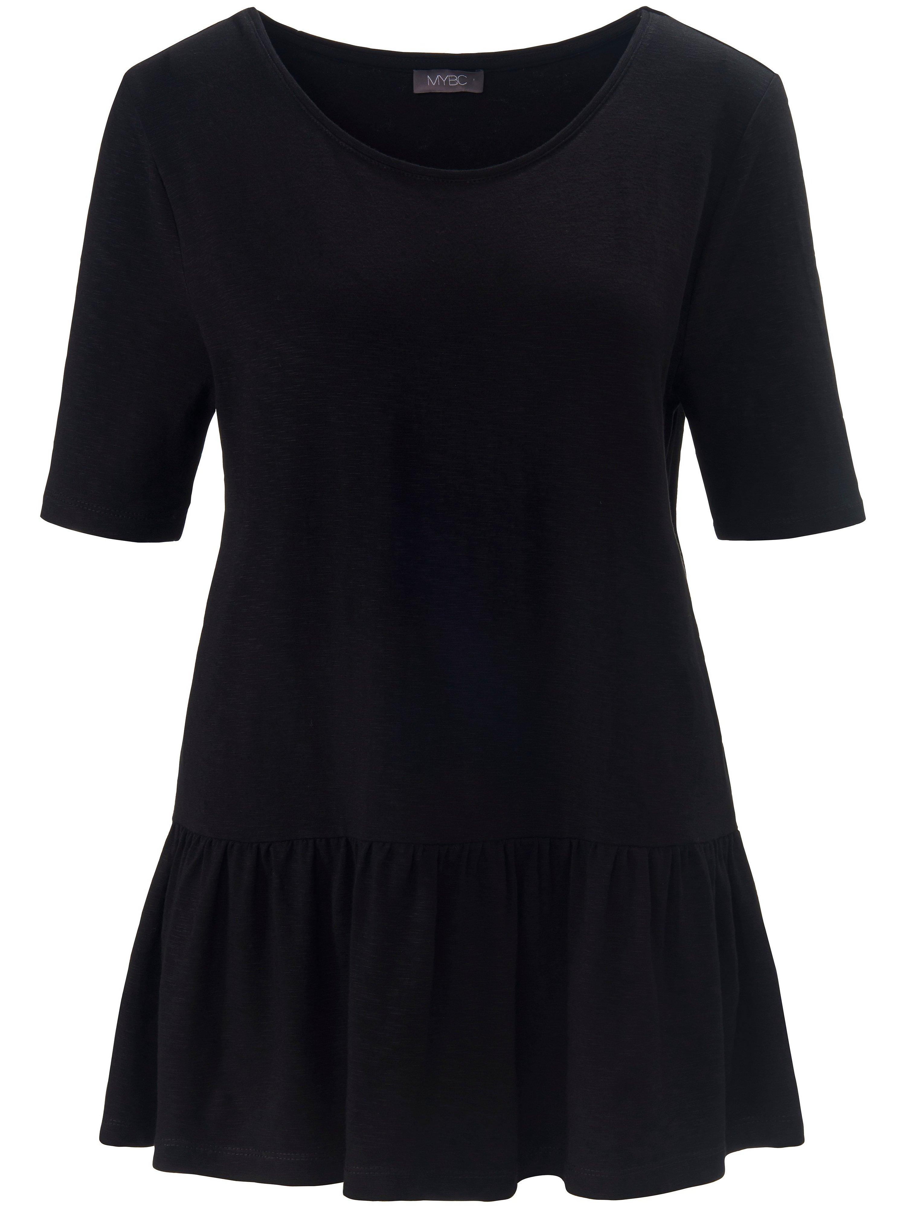 Round neck top short sleeves MYBC black