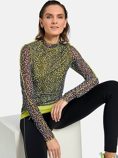 ulli_ehrlich Sportalm - Mesh-Shirt mit Stehbundkragen