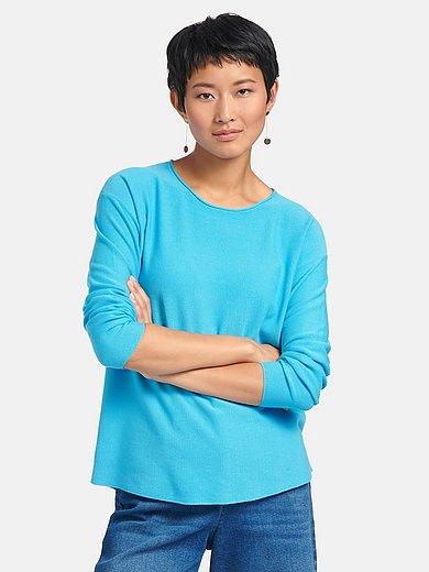 Peter Hahn - Round-neck jumper in 100% cotton