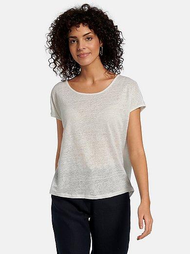 PETER HAHN PURE EDITION - Shirt van 100% linnen met ronde hals