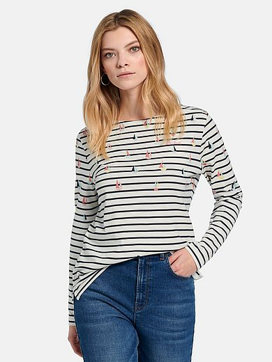 Barbour - Shirt van 100% katoen met boothals en lange mouwen