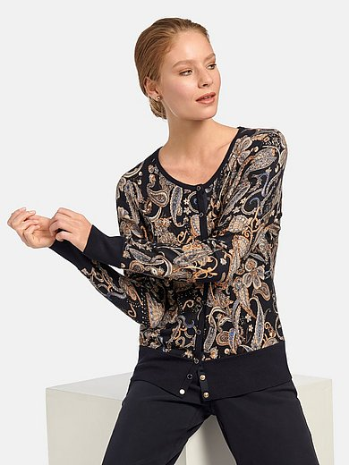 Betty Barclay - Le cardigan réversible en maille jacquard
