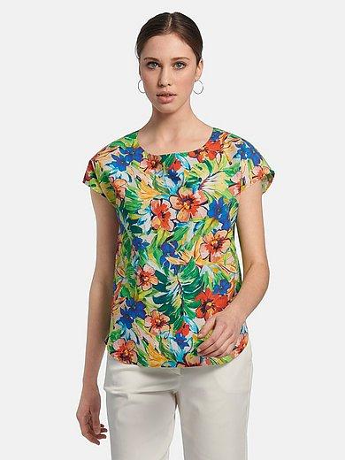 St. Emile - Shirt van 100% katoen met bloem- en bladfiguren