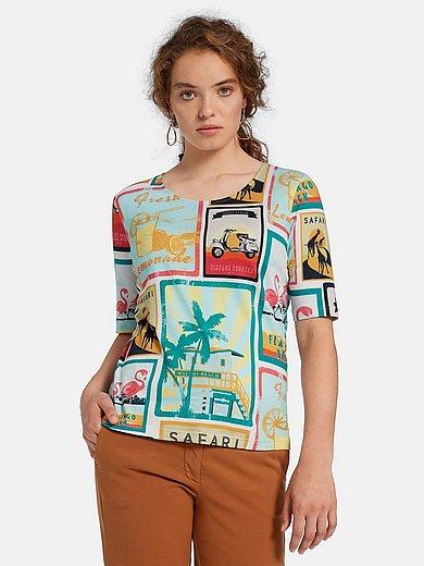 ZAIDA - Shirt van 100% katoen met jaren 50-print