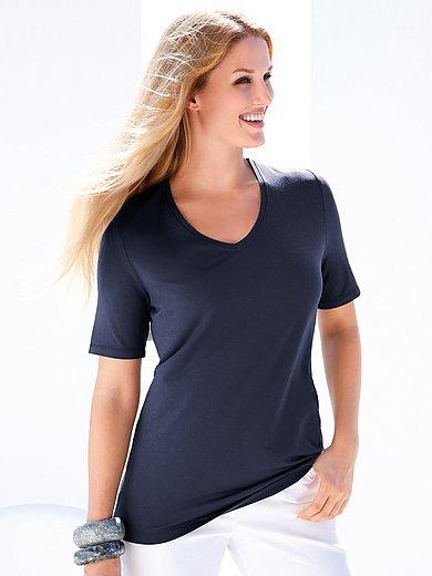 Anna Aura - Shirt mit gerundetem V-Ausschnitt
